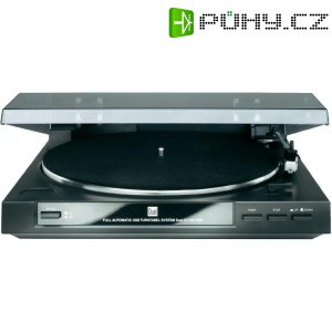 USB gramofon Dual DT 210 USB, řemínkový pohon, černá