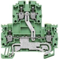 Svorka pro ochranný vodič Weidmüller WDK 2.5N PE (1041620000), 5,1 mm, zelenožlutá