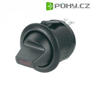 Kolébkový pákový vypínačR13-112LP LED zelený vyp/zap