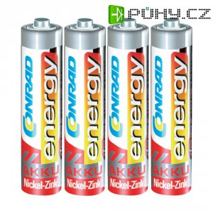 Akumulátor Conrad energy, NiZn, AAA, 550 mAh, 1,6 V, 4 ks