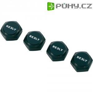 Matice kola s krytkou Reely MV1061BA, 1:8, M12 x 1 mm, černá, 4 ks