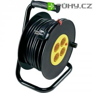 Kabelový buben, 4 zásuvky, 25 m, černá