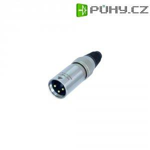 XLR kabelová zástrčka Neutrik X-HD-Serie, rovná, 3pól., 3,5 - 8 mm, IP65, stříbrná