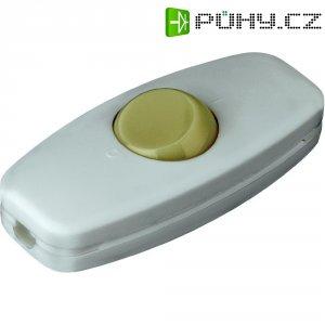Šňůrový vypínač interBär, 2pólový, luminiscenční, 250 V/AC, 2 A, bílá