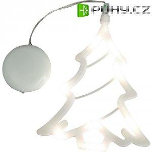 Svítící LED ozdoba na okno, stromeček