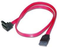 Kabel SATA 0,5m rovný / úhlový konektor