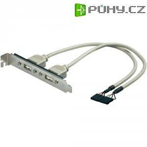 Adaptér se sloty 2x USB 2.0, 5-pinový