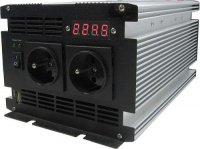 Měnič 12V/230V+UPS 600W,čistá sinusovka, JYINS, Vadný display!