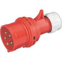 CEE zástrčka na kabel PCE, 16 A, IP44, červená