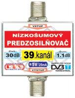 Anténní zesilovač DVB-T 39K 5V 30dB F-F