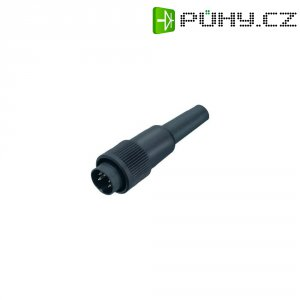 Kabelový konektor Binder 678, 9906090004, 4pól., 0,75 mm², 4 - 6 mm, 6 A, IP40, černá