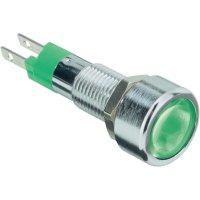 LED signálka s IP67, 12 V, 150mcd, zelená