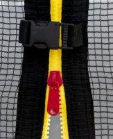 Trampolína G21 s ochrannou sítí 250 cm červená