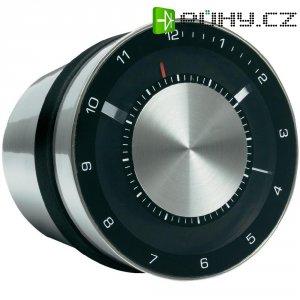 Analogové stolní hodiny Reflects Laakdal, 51601, 80 x 83 x 89 mm, černá/stříbrná