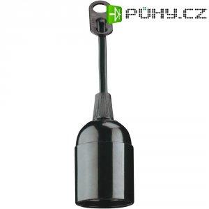 Objímka pro žárovku E27, 230 V/50 Hz, černá