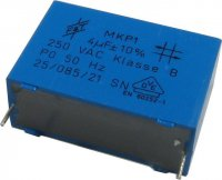 4uF/250V~ MKP1, svitkový kondenzátor radiální