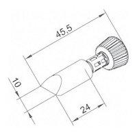 Pájecí hrot ERSADUR 0102CDLF100/SB, 10 mm