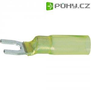 Izolovaná kabelová vidlice, M4, 4 - 6 mm², žlutá