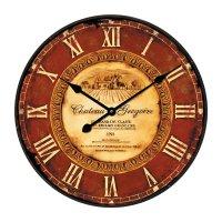 Analogové nástěnné hodiny Retro WT 1511, Ø 50cm, hnědá