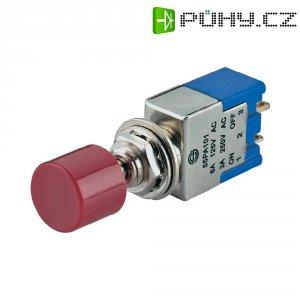 Tlačítkový spínač PA102A1 červený