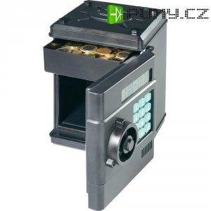 """Kasička \""""trezor\"""" s digitálním počítadlem Euro mincí"""