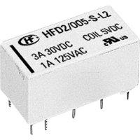 Miniaturní relé HFD2 3 A HFD2/005-S-L2-D, 3 A , 220 V/DC/ 250 V/AC , 125 VA/ 90 W