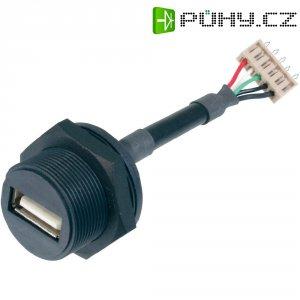 USB 2.0 vestavná zásuvka ASSMANN WSW A-KAB-USBA-FS-1M, IP67, Typ A, 1 m