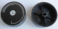 Přístrojový knoflík průměr 42mm, v 15mm, hřídel 6mm
