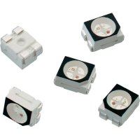 SMD LED Würth Elektronik, 150141RB73100, 30 mA, 2 V, 120 °, 260 mcd, červená/modrá