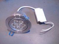 Stropní LED světlo teplá bílá 7x1W LED teplá bílá 3000K