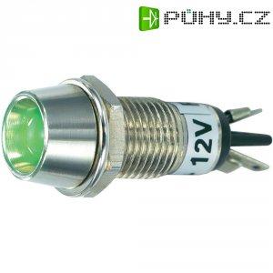 LED signálka SCI R9-115L 12 V, vnitřní reflektor 5 mm, 12 V/DC, zelená