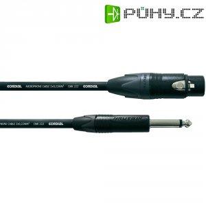 Kabel Cordial® CMK 222 CPM 5 FP, XLR(F)/mono jack 6,3 mm, 5 m, černá