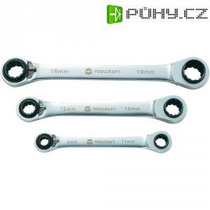 Sada oboustranných ráčnových klíčů TOOLCRAFT 819162, 3dílná, 8 - 19 mm