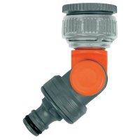 """Výkyvná přípojka na vodovodní kohoutek Gardena, 33,3 mm (G 1 \"""") / 26,5 mm (G 3/4 \"""")"""