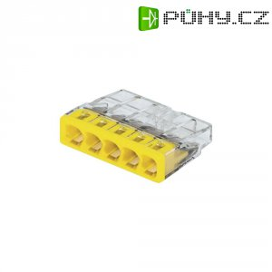 Svorka Wago, 0,5 - 2,5 mm², 5pólová, transparentní/žlutá