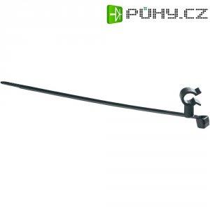 Stahovací pásek HellermannTyton T50SVC5-HS-BK-D1, s otočným klipsem pro prům. 4,5 - 5,2 mm
