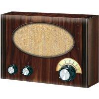 Krátkovlnné retro rádio Conrad - stavebnice, od 14 let