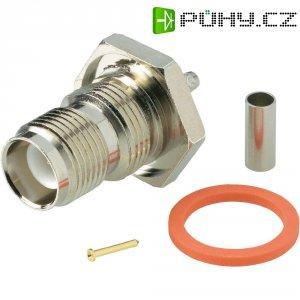 Konektor TNC Reverse BKL Electronic 419407, 50 Ω, zásuvka vestavná vertikální