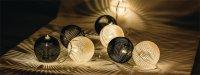 Řetěz dekorační 10 LED 1.5m koule HQLEDSLPBALL