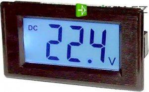 JYX85-panelový LCD MP 100V= 70x40x25mm,napájení 6-12V=