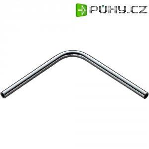 Úhlová tyč 8 cm - chrom