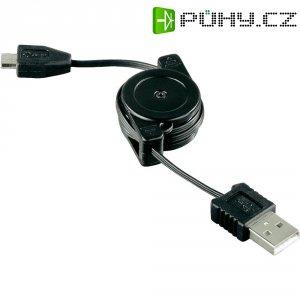 USB-miniUSB kabel rolovací Hama Roll-Up 104825