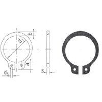 Pojistný kroužek hřídele 4 mm, 20 ks