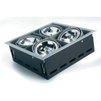 Vestavné svítidlo Sygonix Ancona AR111, 4x 100 W, G53, stříbrná/šedá