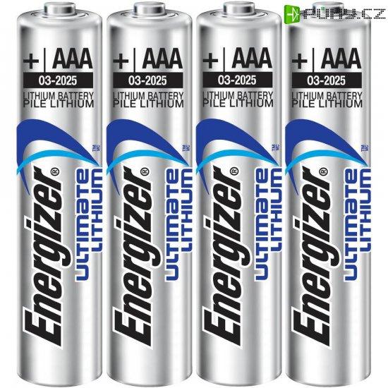 Lithiová baterie Energizer Hi Energy, typ AAA, 3 + 1 zdarma - Kliknutím na obrázek zavřete