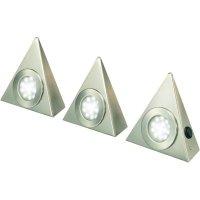 LED světlo pod kuchyňskou linku, 39,5 cm, teplá bílá, 3 kusy