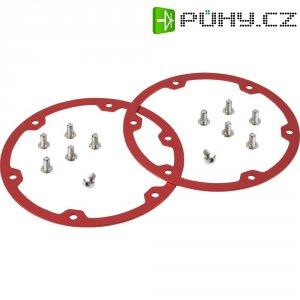 Prstence kol Reely C08A02RE, 1:8, červený hliník, 2 ks