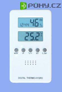 Digitální teploměr s vlhkoměrem a hodinami (TV04)