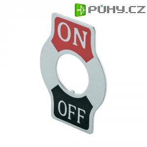 Štítek pro páčkové přepínače SCI, potisk ON/OFF