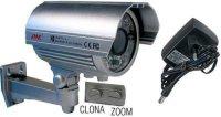 Kamera CCD 700TVL JK-528 objektiv 2,8-12mm, vadný čip.